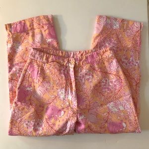 Lilly Pulitzer Jungle Kitty Crop Pants Size 6 Pink